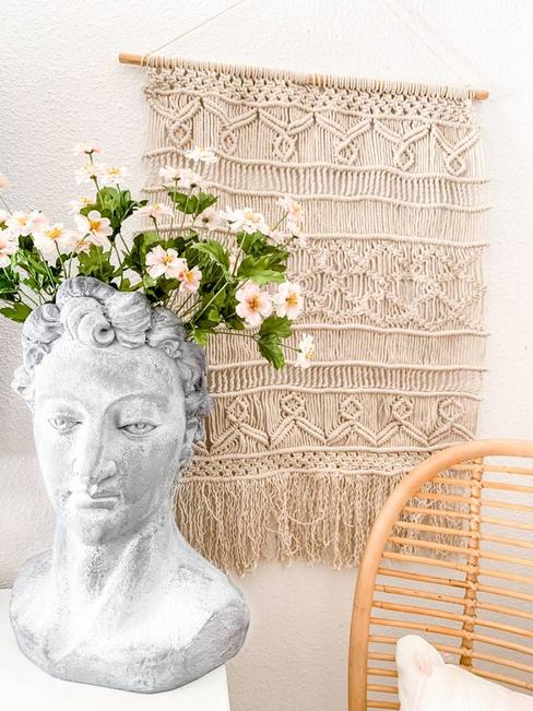 Wall Hanging and Bust Planter
